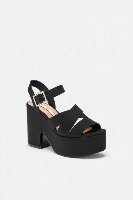 Poze Zara Saten Platform Sandals