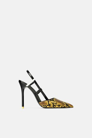 Zara YellowSerpienteShoes