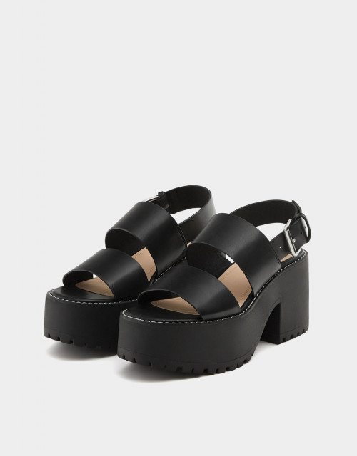 Poze Pull&Bear Double Belt Sandals