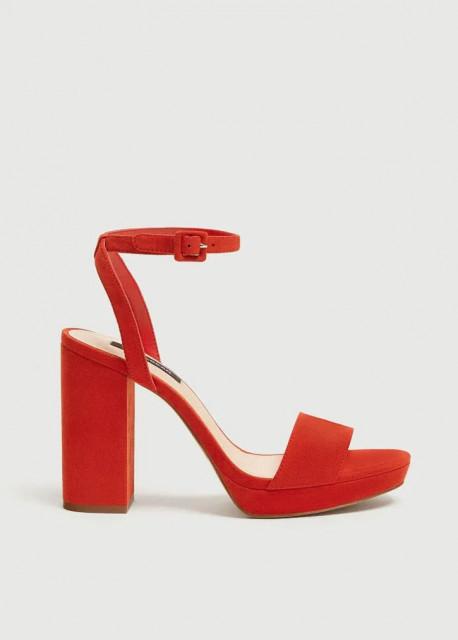 Poze Pull&Bear Rojo Platform Sandals