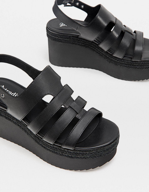 Poze Stradivarius Yute Braided Sandals