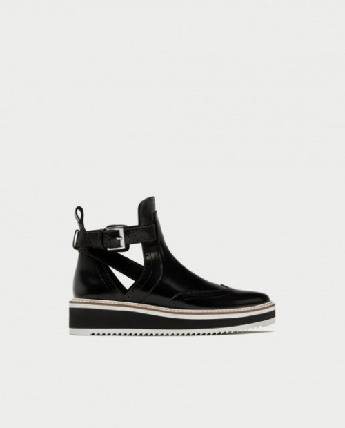 Poze Zara Flat cut-out ankle boots