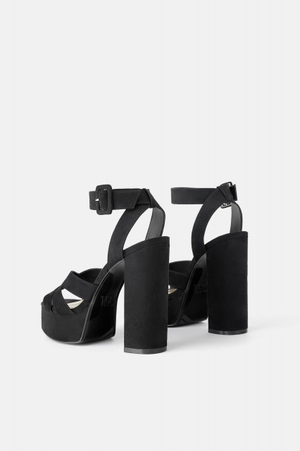 Poze Zara Heeled Platform Sandals