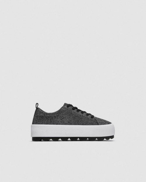 Poze Zara SilverTopSneakers