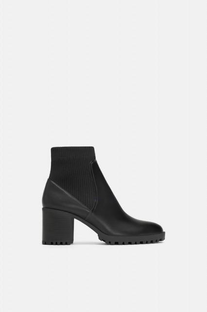 Poze Zara Sock Ankle Boots