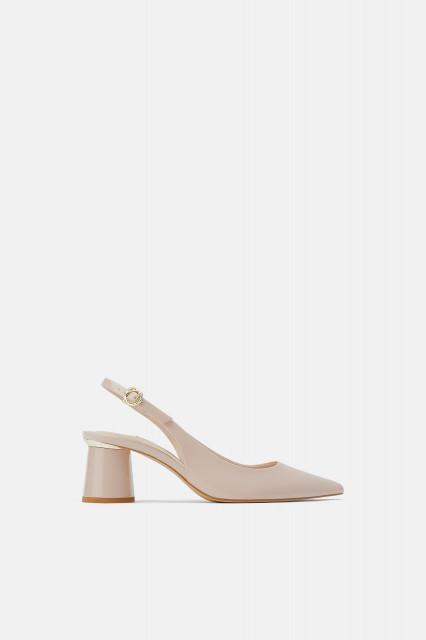 Zara VinylNudeMulesShoes