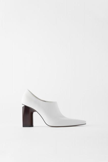 Zara WhiteLeatherShoes