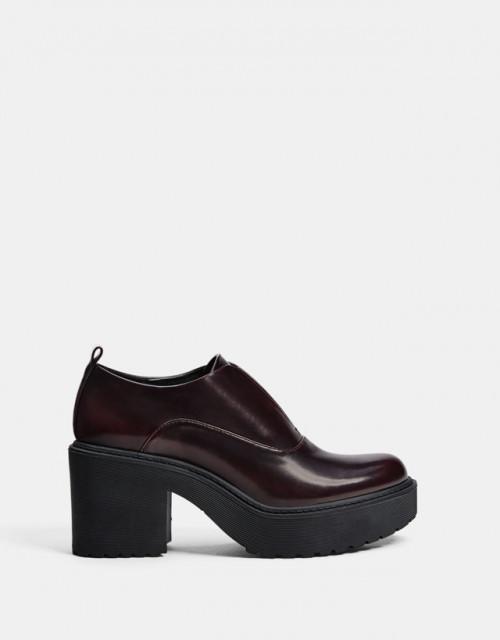 Poze Bershka Burgundy Track Shoes
