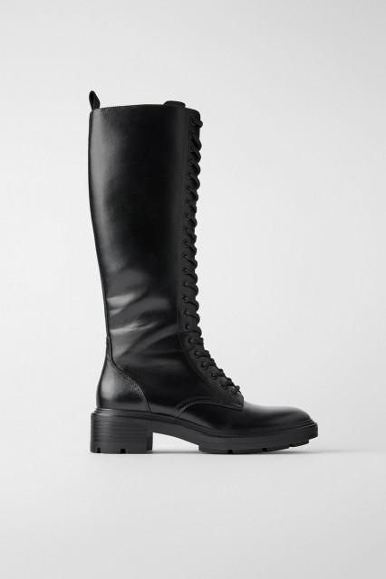Poze Zara Flat Boots With Eyelet