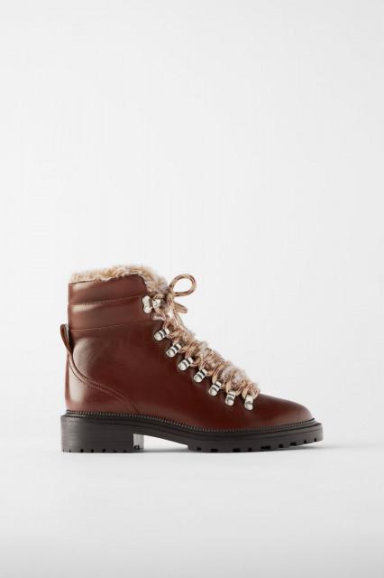 Zara LeatherFurryBoots