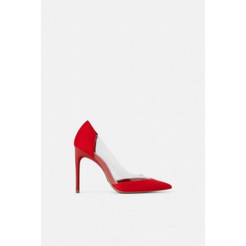 Poze Zara Red Vinyl Heel