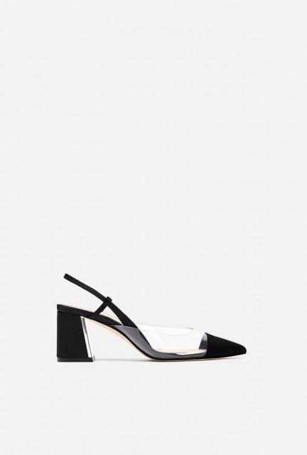 Zara VinylNeroMulesShoes