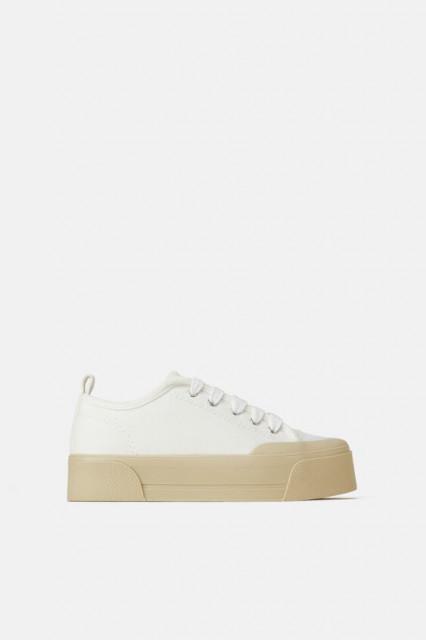 Zara WhitePlatformSneaker