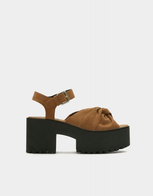 Poze Pull&Bear Bow Platform Sandals