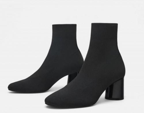 Poze Zara Heels Botin Noir