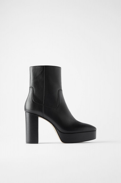 Poze Zara Leather Platform Heels