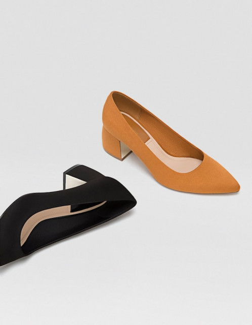 Poze Stradivarius Suede Maron Shoes