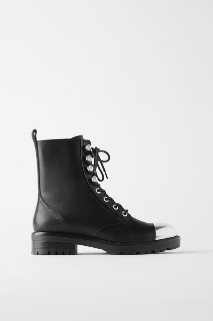 Zara Boots With Metalic Detail