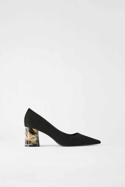 Zara MarbleHeelShoes