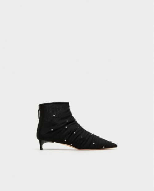 Zara Tulle Ankle Boots
