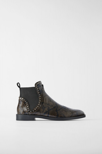 Zara GreenPrintedBoots