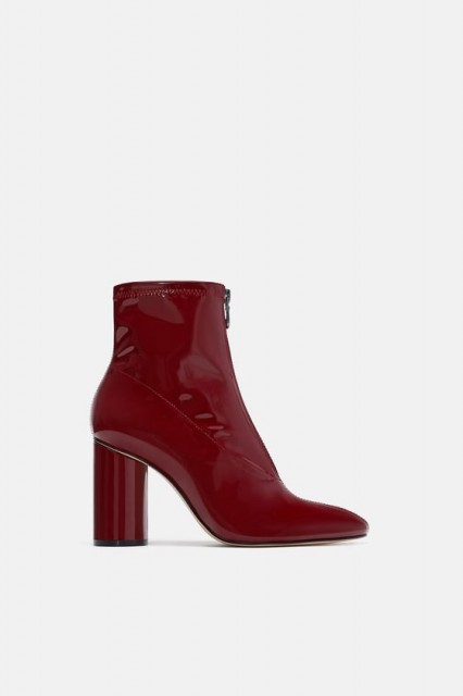 Zara PatentFinishBurgundy