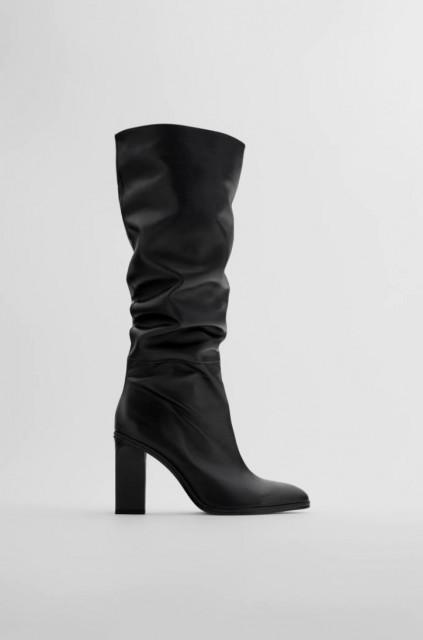 Zara Slouchy High Heel Boots