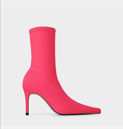 Zara Sock Electric Pink