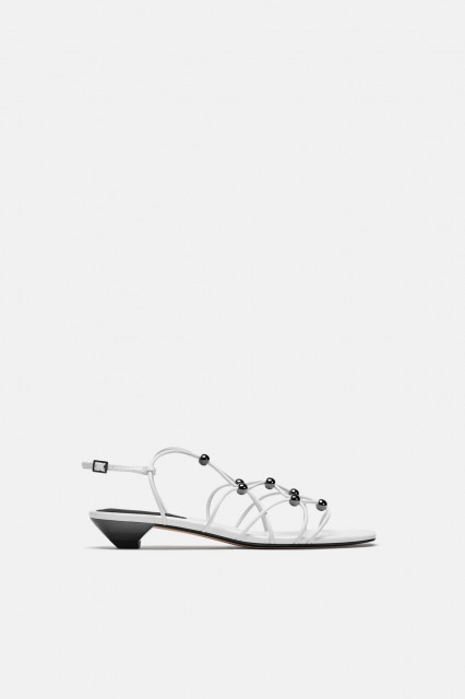 Poze Zara White Dots Sandals
