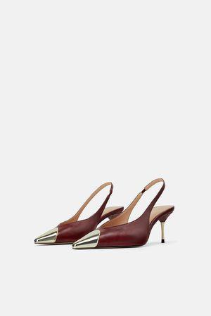 Zara BurgundySlingBackShoes