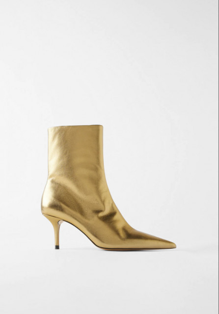 Poze Zara Gold Heel Botin