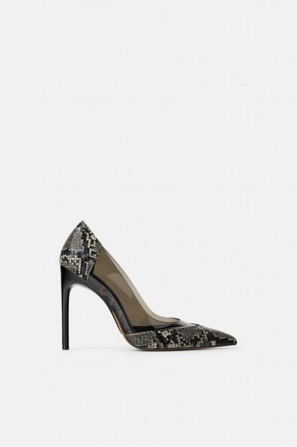 Poze Zara Printed Piton Heel