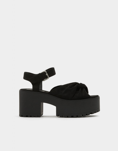 Poze Pull&Bear Bow Black Sandals