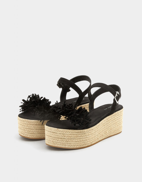 Poze Pull&Bear Yute Flower Sandals
