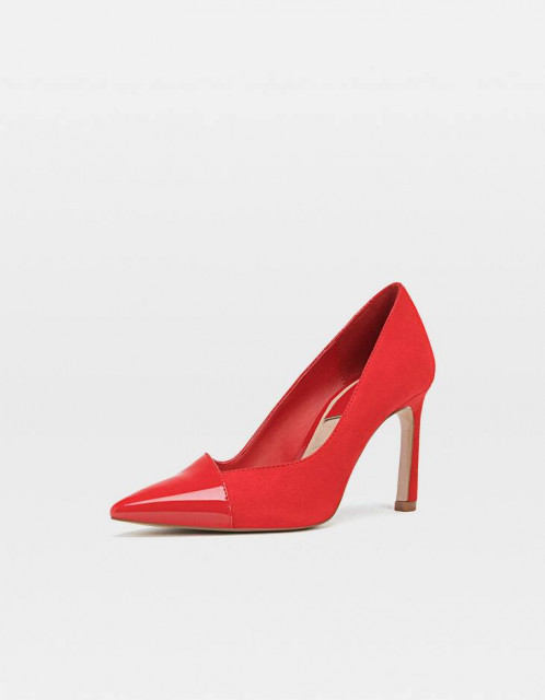 Poze Stradivarius Red Faux Shoes