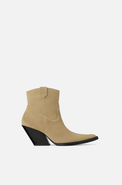 Zara Heeled Cowboy Boots