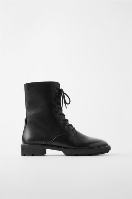 Zara Leather Boots Monteiro