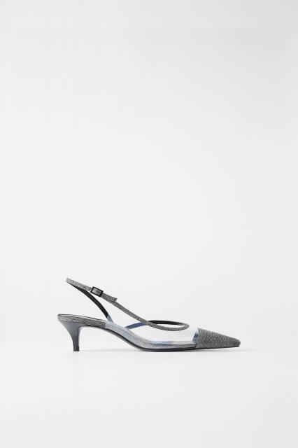 Zara SilverSlingBackShoes