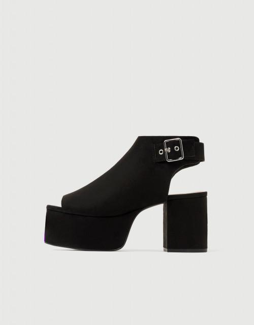Poze Pull&Bear Nero Platform Sandals