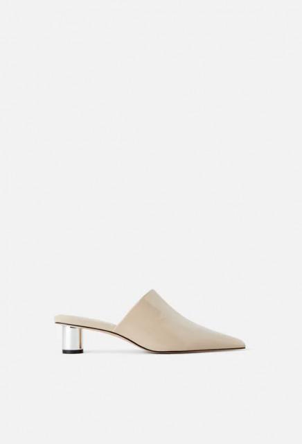 Zara CombinedBeigeLeatherShoes
