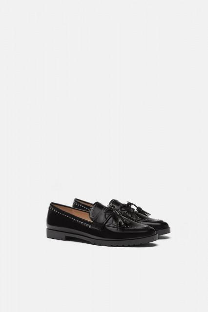 Zara DerbyFringeShoes