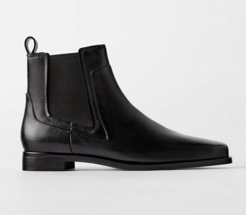 Poze Zara Flat Leather Boots