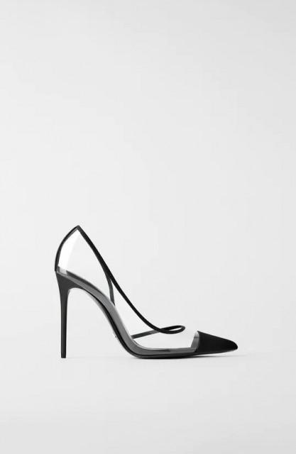 Zara VinylNeroOpenShoes