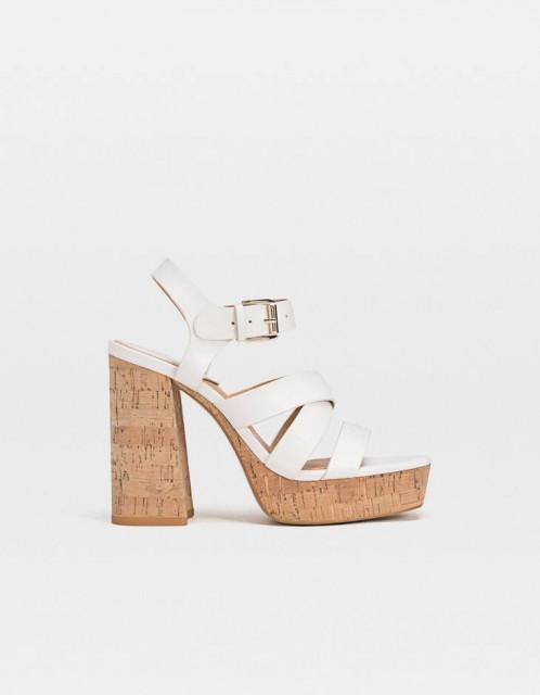 Poze Stradivarius Blanca Platform Sandals