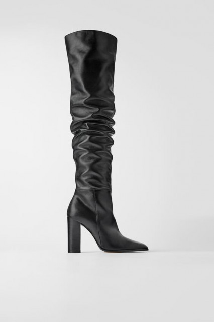 Poze Zara Leather Over Knees Boots