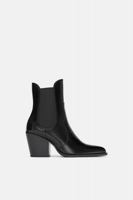 Zara Mid-heel cowboy ankle boots