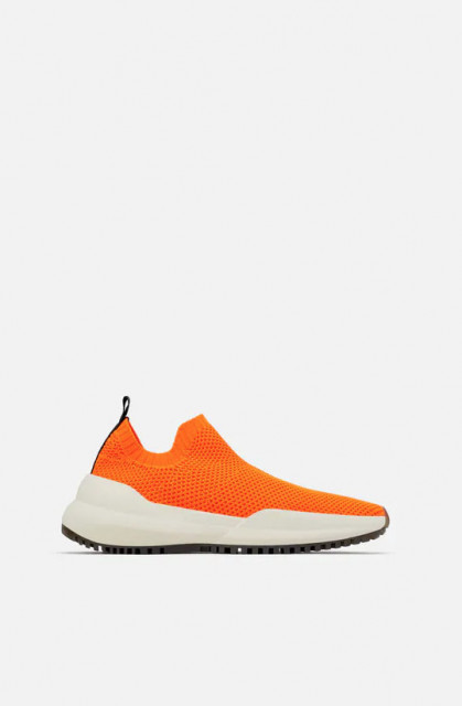 Zara OrangeSockSneaker