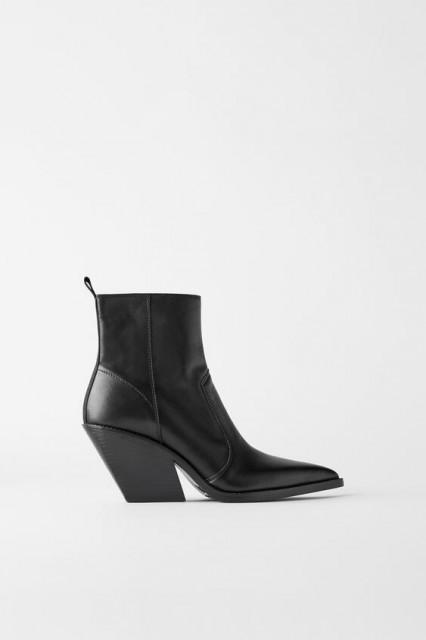 Zara Wedge Cowboy Boots TRF