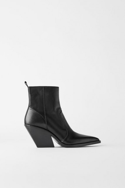 Poze Zara Wedge Cowboy Boots TRF