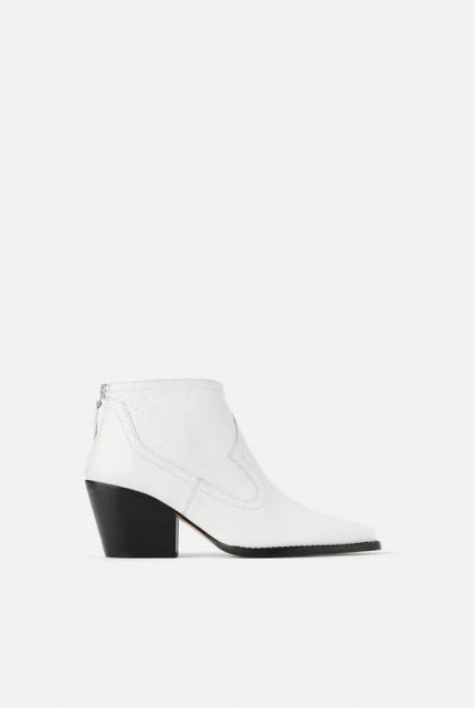 Poze Zara White Crok Leather